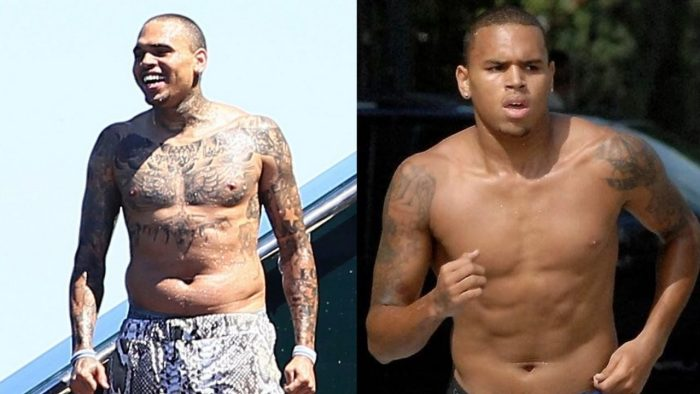 Chris Brown Before After