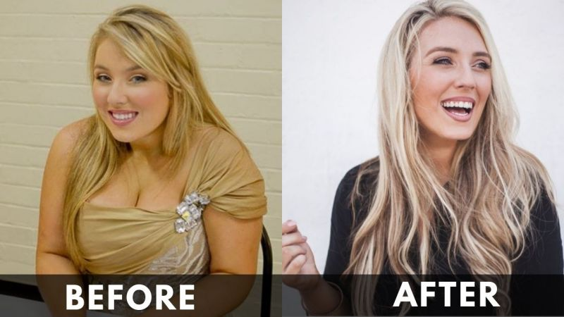 Chloe Agnew before and after weight loss