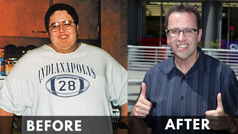 Jared Fogle before and after weight loss