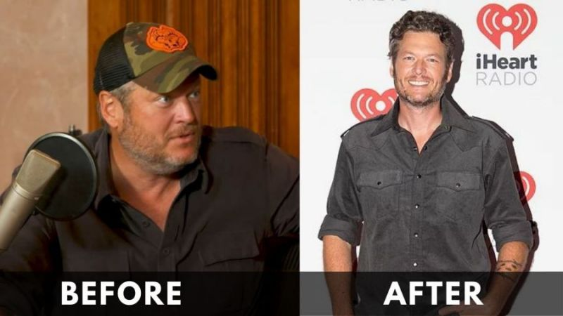 Blake Shelton Before After Weight loss