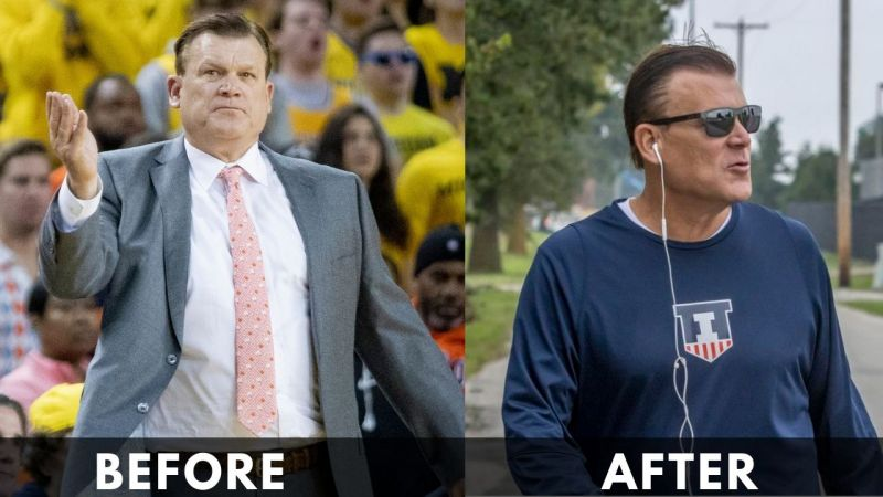 Brad Underwood before after weight loss