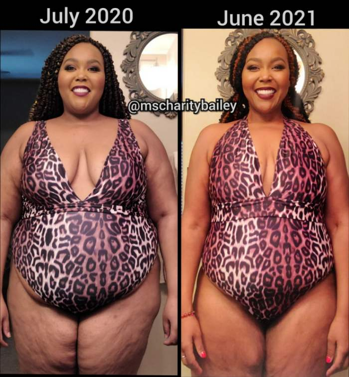 Charity Bailey Before & After weight loss