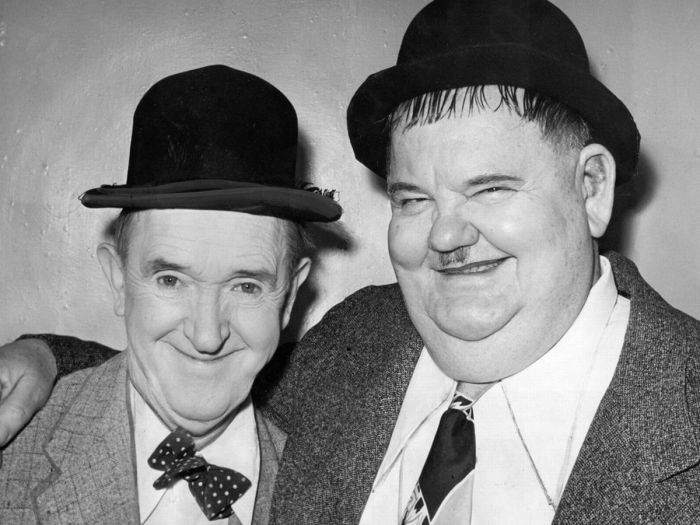 Oliver Hardy before weight loss